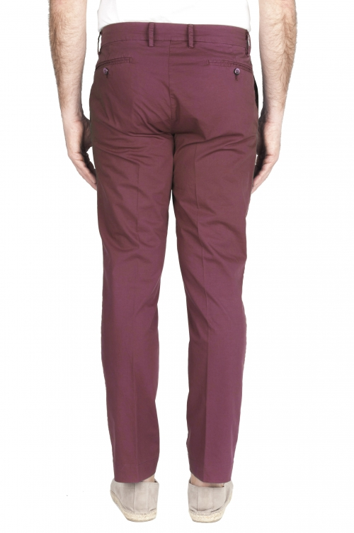 SBU 01968_2020SS Classic chino pants in dark red stretch cotton 01