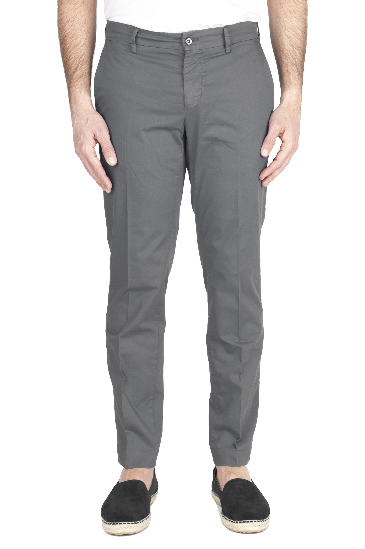 SBU 01969_2020SS Pantalon chino classique en coton stretch gris 01