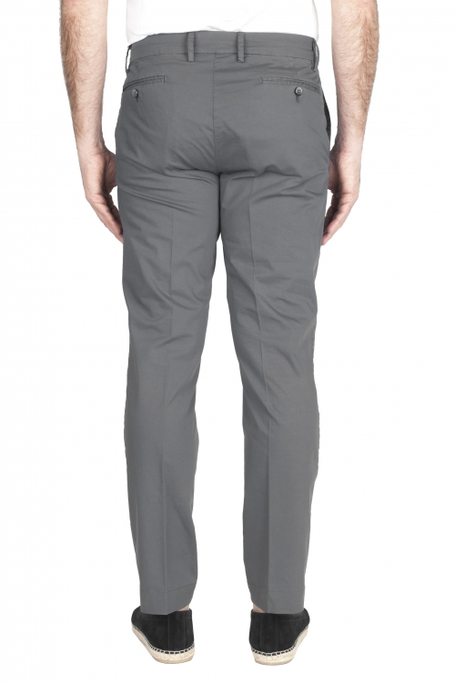SBU 01969_2020SS Classic chino pants in grey stretch cotton 01