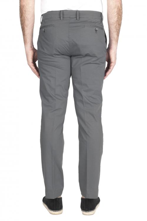 SBU 01969_2020SS Pantaloni chino classici in cotone elasticizzato grigio 01