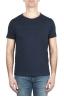 SBU 01970_2020SS Flamed cotton scoop neck t-shirt blue navy 01