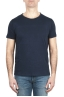 SBU 01970_2020SS T-shirt girocollo aperto in cotone fiammato blu navy 01