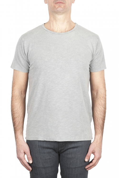 SBU 01971_2020SS T-shirt girocollo aperto in cotone fiammato grigio perla 01