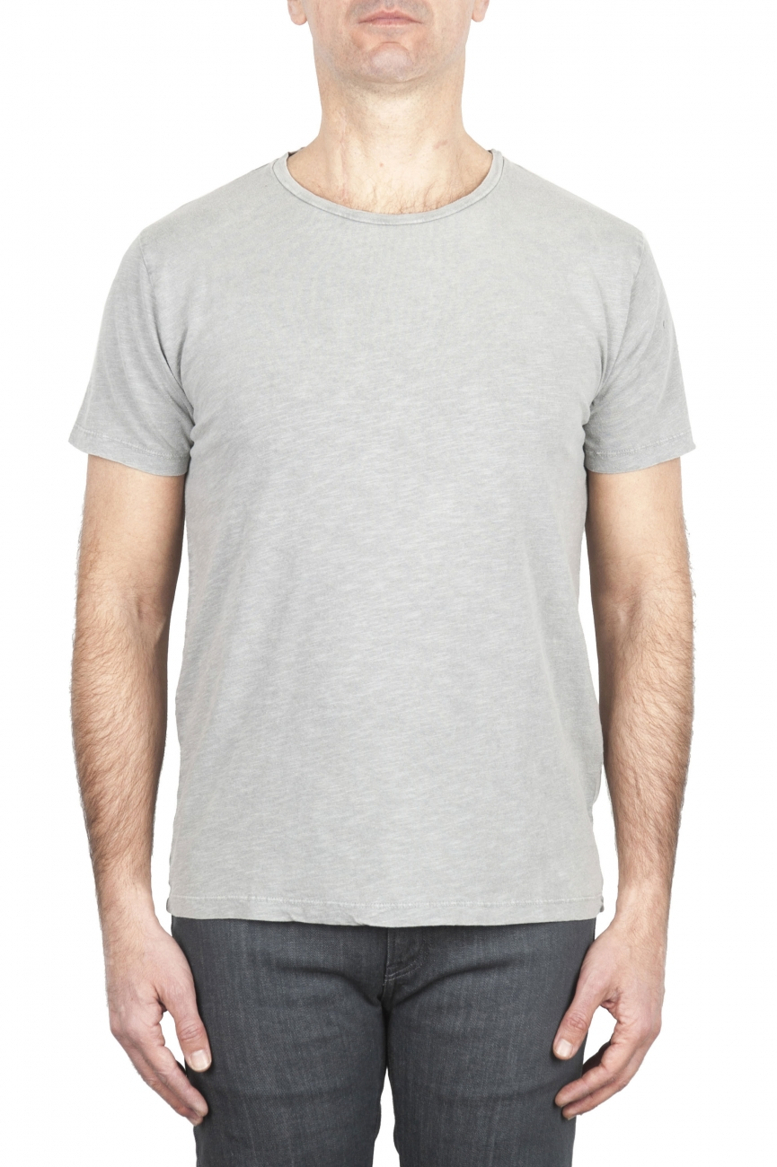 SBU 01971_2020SS Flamed cotton scoop neck t-shirt pearl grey 01