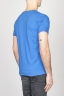 Classic Short Sleeve Flamed Cotton Scoop Neck T-Shirt Light Blue