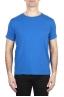 SBU 01972_2020SS Flamed cotton scoop neck t-shirt China blue 01