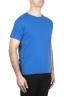 SBU 01972_2020SS Flamed cotton scoop neck t-shirt China blue 02