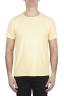 SBU 01973_2020SS Flamed cotton scoop neck t-shirt yellow 01