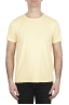 SBU 01973_2020SS T-shirt à col rond en coton flammé jaune 01