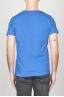 SBU - Strategic Business Unit - T-Shirt Girocollo Aperto A Maniche Corte In Cotone Fiammato Azzurro