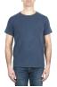 SBU 01975_2020SS Camiseta de algodón con cuello redondo en color azul 01