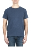SBU 01975_2020SS T-shirt à col rond en coton flammé bleu 01