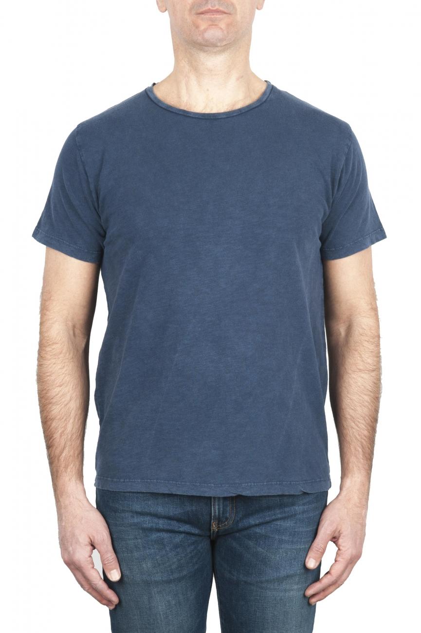 SBU 01975_2020SS フレームコットンスクープネックTシャツブルー 01