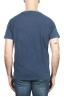 SBU 01975_2020SS Camiseta de algodón con cuello redondo en color azul 05