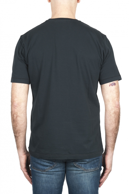 SBU 01981_2020SS Camiseta de algodón puro con cuello redondo antracita 01