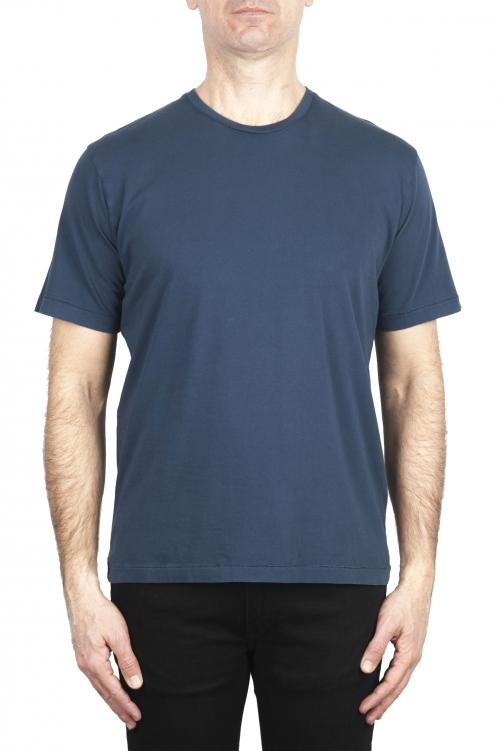 SBU 01982_2020SS T-shirt girocollo in puro cotone blu 01