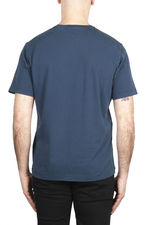 SBU 01982_2020SS T-shirt col rond en pur coton bleu 01