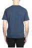 SBU 01982_2020SS Camiseta de algodón puro con cuello redondo azul 05