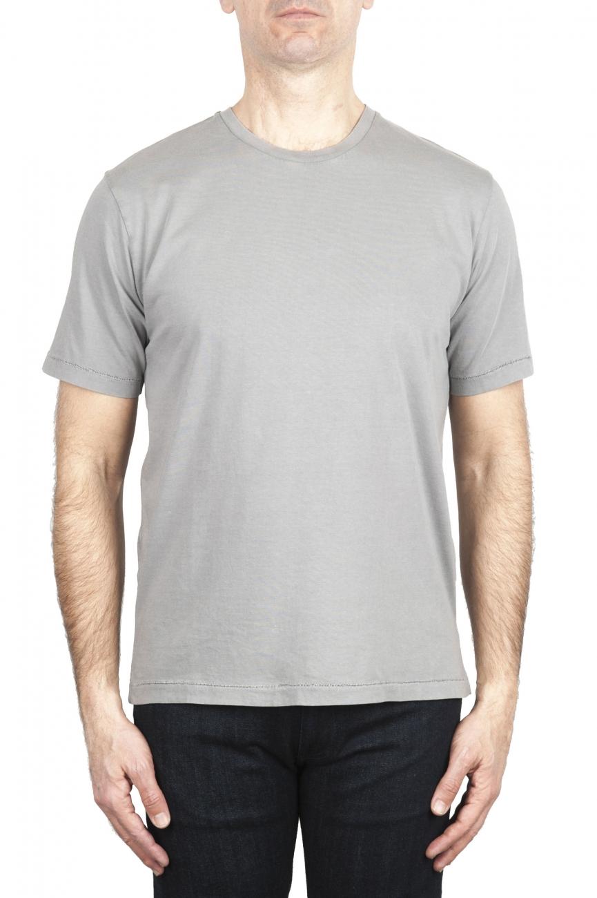 SBU 01983_2020SS T-shirt col rond en pur coton gris 01