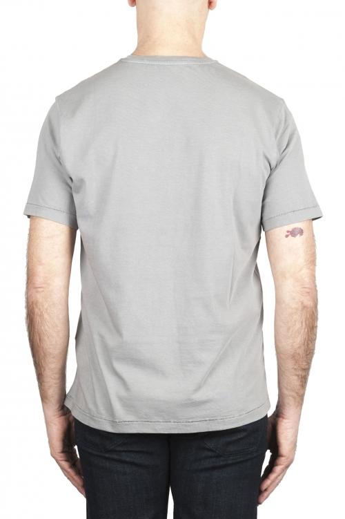 SBU 01983_2020SS Camiseta de algodón puro con cuello redondo gris 01