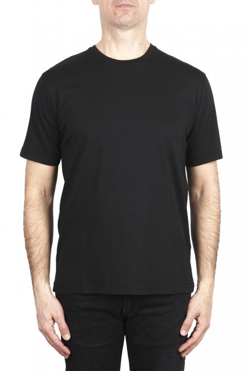 SBU 01984_2020SS T-shirt col rond en pur coton noir 01