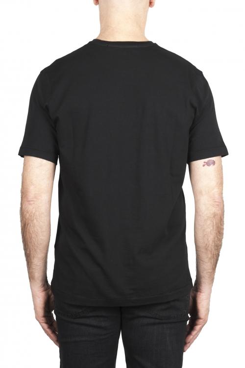 SBU 01984_2020SS Camiseta de algodón puro con cuello redondo negro 01
