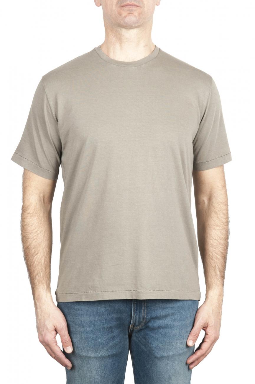 SBU 01985_2020SS Camiseta de algodón puro con cuello redondo verde militar 01