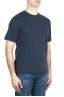 SBU 01986_2020SS Camiseta de algodón puro con cuello redondo azul marino 02
