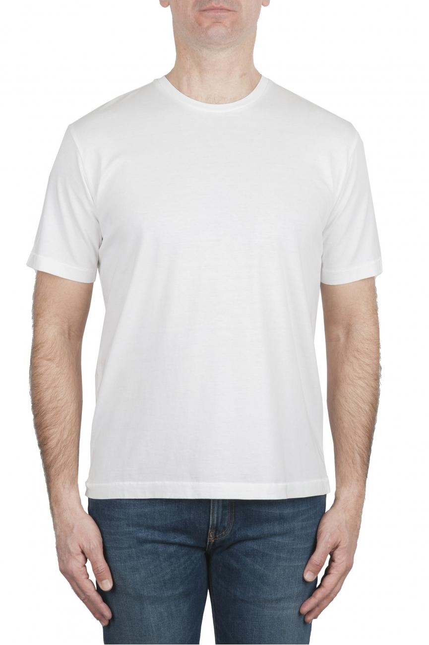 SBU 01987_2020SS T-shirt col rond en pur coton blanc 01