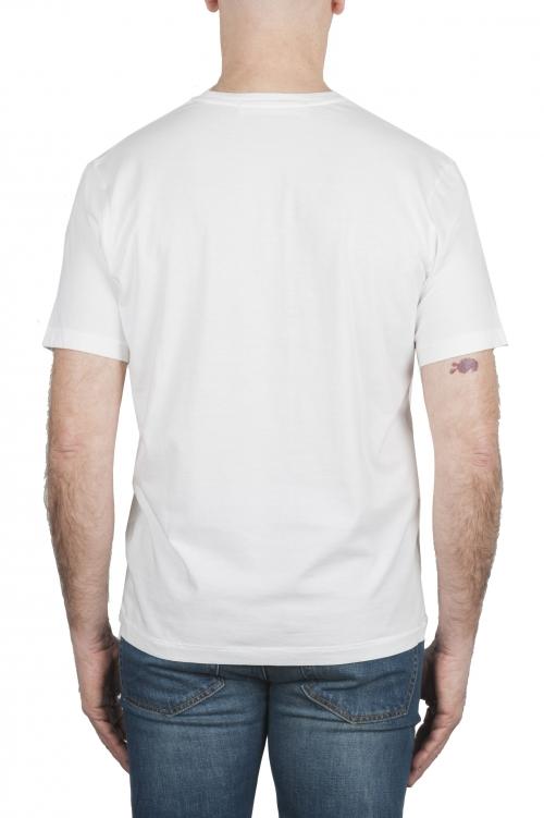 SBU 01987_2020SS Camiseta de algodón puro con cuello redondo blanca 01