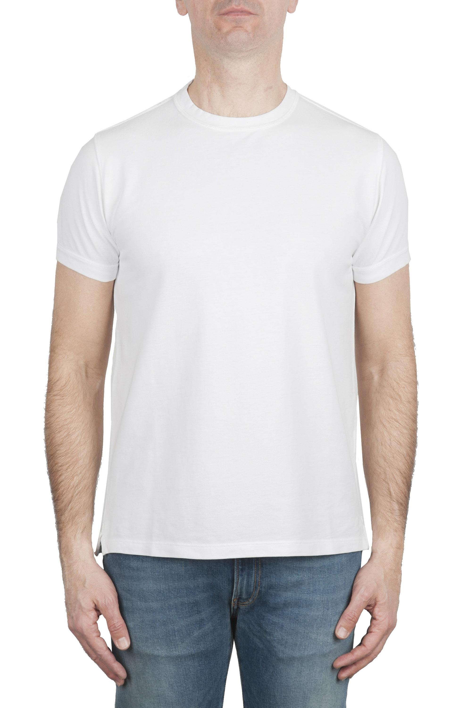 SBU 01990_2020SS T-shirt girocollo in cotone piqué bianca 01