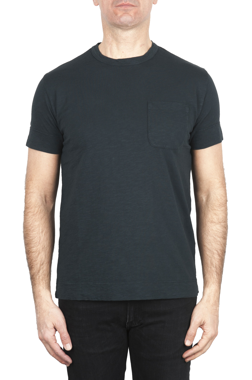 SBU 01994_2020SS T-shirt girocollo in cotone con taschino nera 01