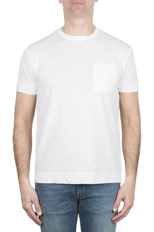 SBU 01995_2020SS ラウンドネックパッチポケットコットンTシャツホワイト 01