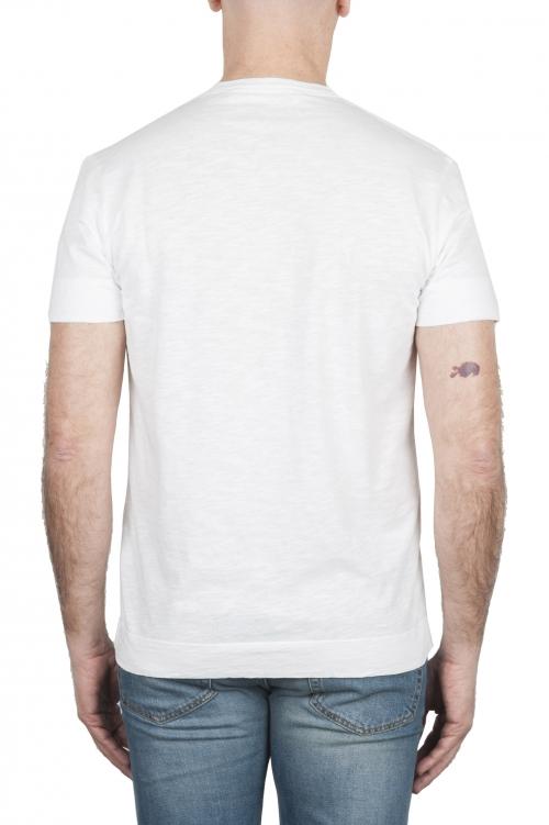 SBU 01995_2020SS T-shirt girocollo in cotone con taschino bianca 01