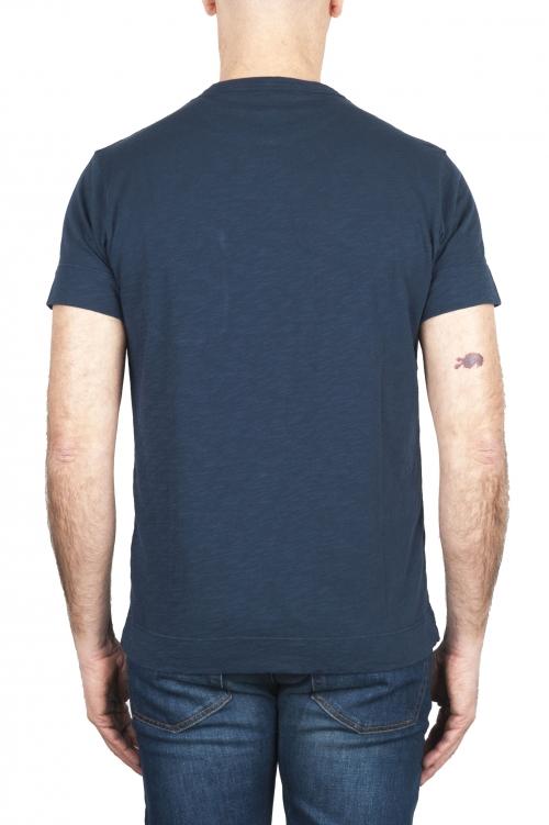 SBU 01996_2020SS Round neck patch pocket cotton t-shirt blue 01