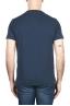 SBU 01996_2020SS Camiseta de algodón azul de cuello redondo y bolsillo de parche 05