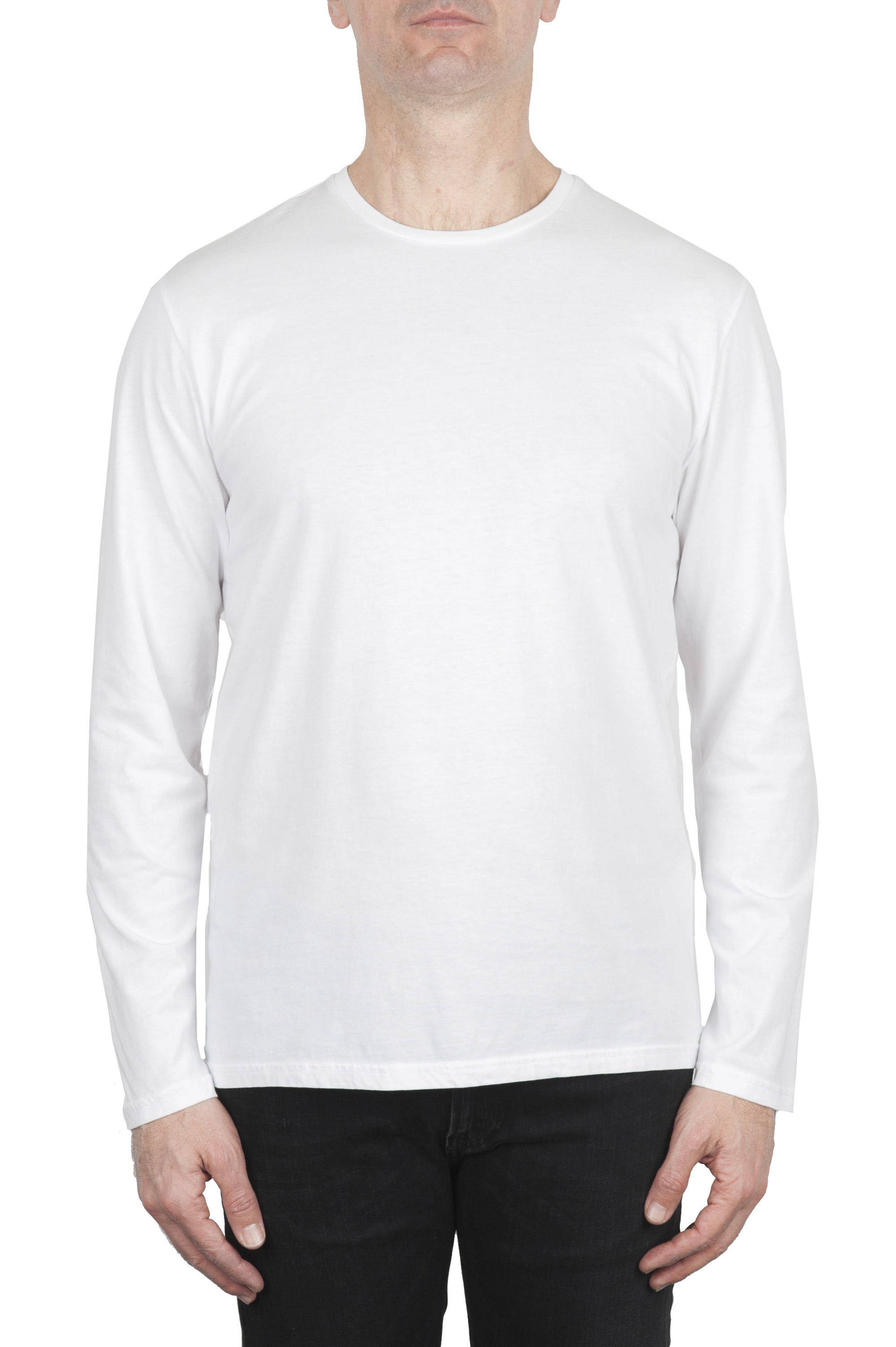 SBU 01999_2020SS Cotton jersey classic long sleeve t-shirt white 01