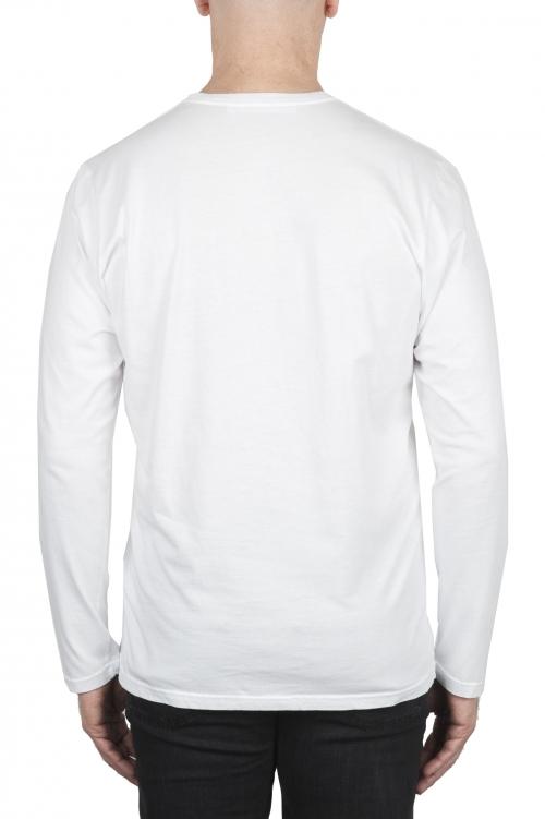 SBU 01999_2020SS Camiseta clasica de manga larga de algodón jersey blanco 01