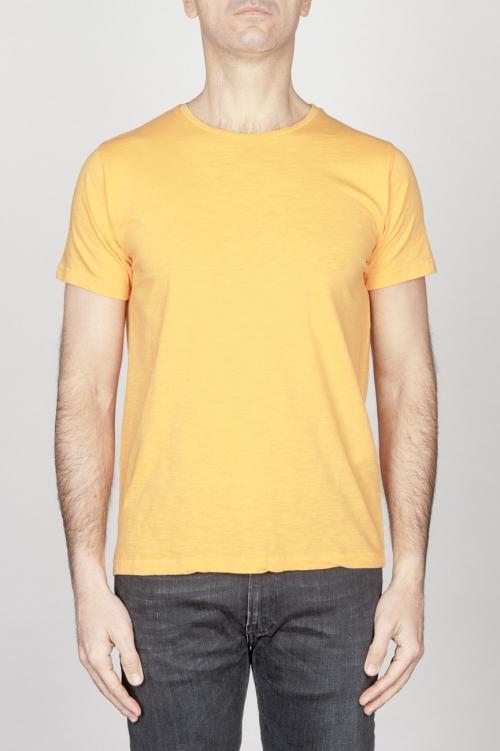 SBU - Strategic Business Unit - Classic Short Sleeve Flamed Cotton Scoop Neck T-Shirt Orange