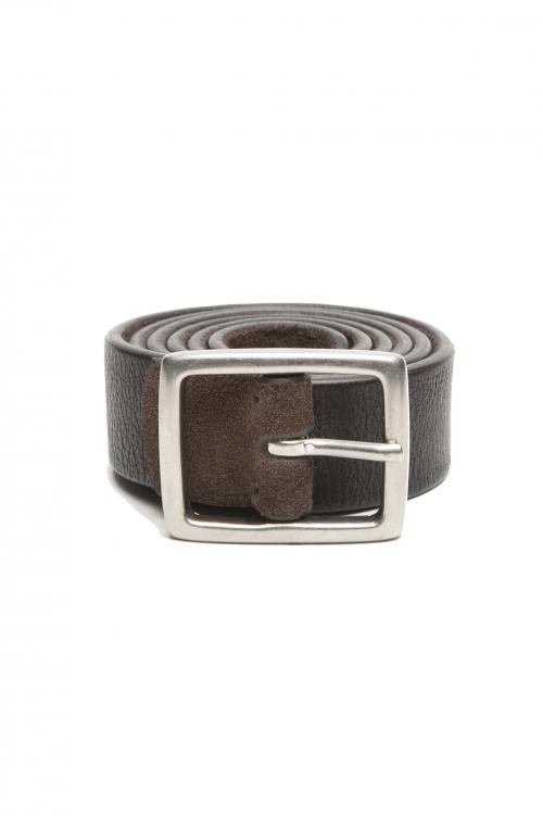 SBU 02806_2020SS Cinturón reversible de cuero marrón y negro 3 centímetros 01