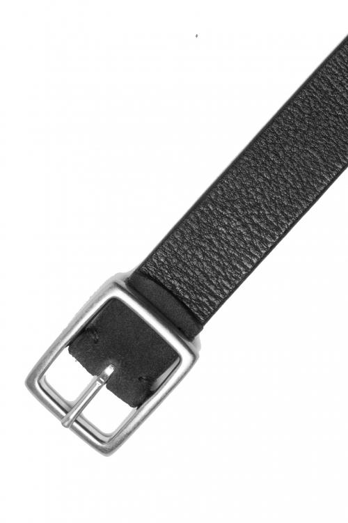 SBU 02807_2020SS Cinturón reversible de cuero marrón y negro 3 centímetros 01