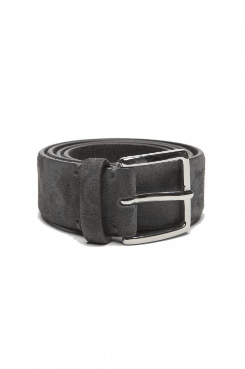 SBU 02808_2020SS Cinturón de ante gris de piel de becerro 3.5 centímetros 01