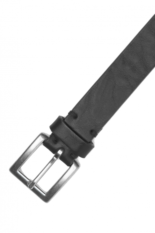 SBU 02812_2020SS Cinturón de piel de vacuno 2.5 cm negro 01