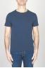 SBU - Strategic Business Unit - Classic Short Sleeve Flamed Cotton Scoop Neck T-Shirt Blue Navy