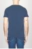 SBU - Strategic Business Unit - T-Shirt Girocollo Aperto A Maniche Corte In Cotone Fiammato Blue Navy