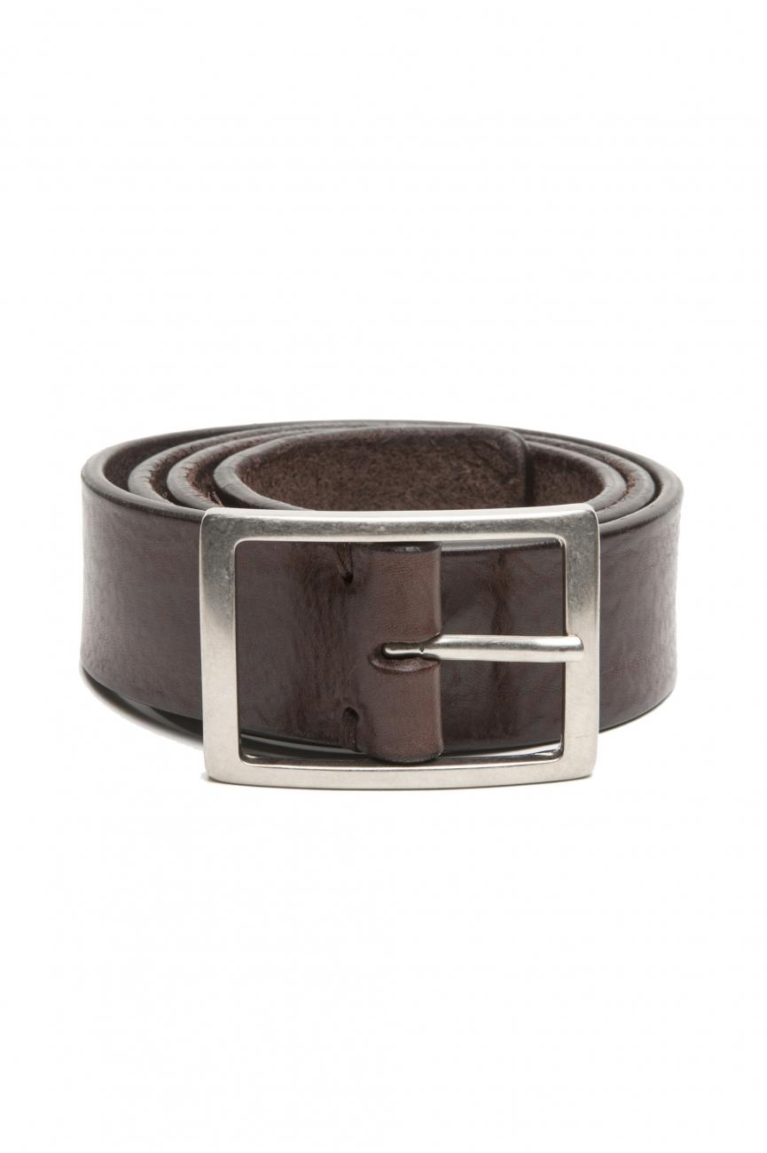 SBU 02825_2020SS Cintura in pelle di toro altezza 3.5 cm marrone 01