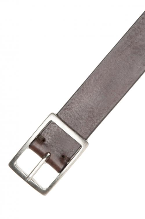 SBU 02825_2020SS Cinturón de piel de vacuno 3.5 cm marrón 01