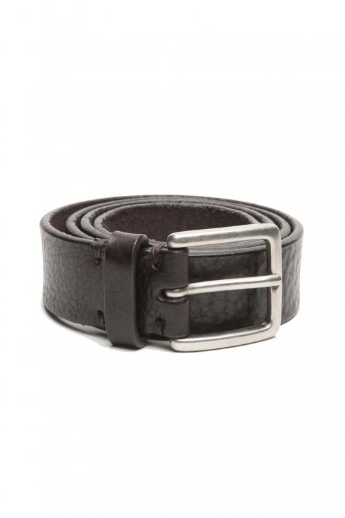 SBU 02827_2020SS Cintura in pelle di toro martellata 3 cm marrone 01