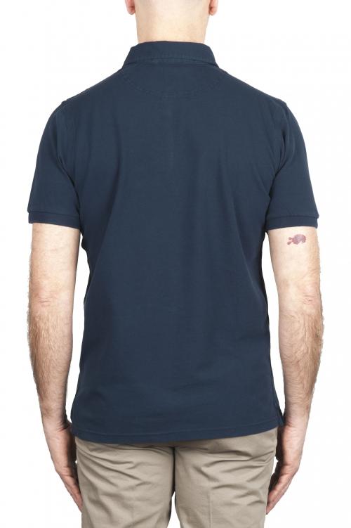 SBU 02041_2020SS 半袖ネイビーブルーピケポロシャツ 01
