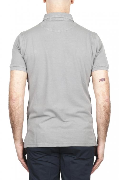 SBU 02042_2020SS Short sleeve grey pique polo shirt  01